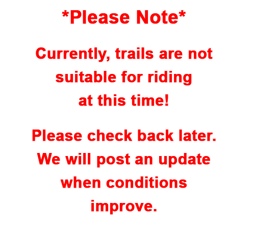Trails closed tempoarily